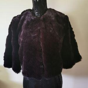 Robert Rodriguez Faux Fur Shrug Size 6